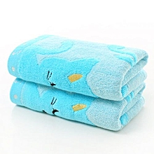 25*50 Cm Bamboo Fiber Cotton Towel For Baby Kids - Blue
