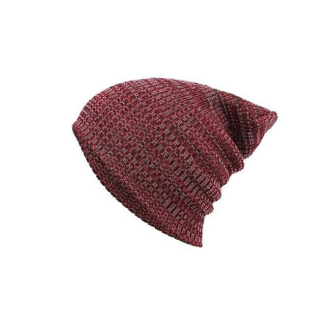 b421eb23fdd Eissely Fashion Unisex Winter Warm Knit Crochet Ski Hat Braided Turban  Headdress Cap RD