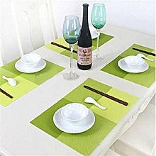 Fashion Anti-Slip Heat-Proof PVC Placemat 4pcs Table Mat & Table Runner Set
