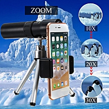 10-30X Zoom Telephoto Telescope Optical Monocular Camera Lens +Phone Clip+Tripod