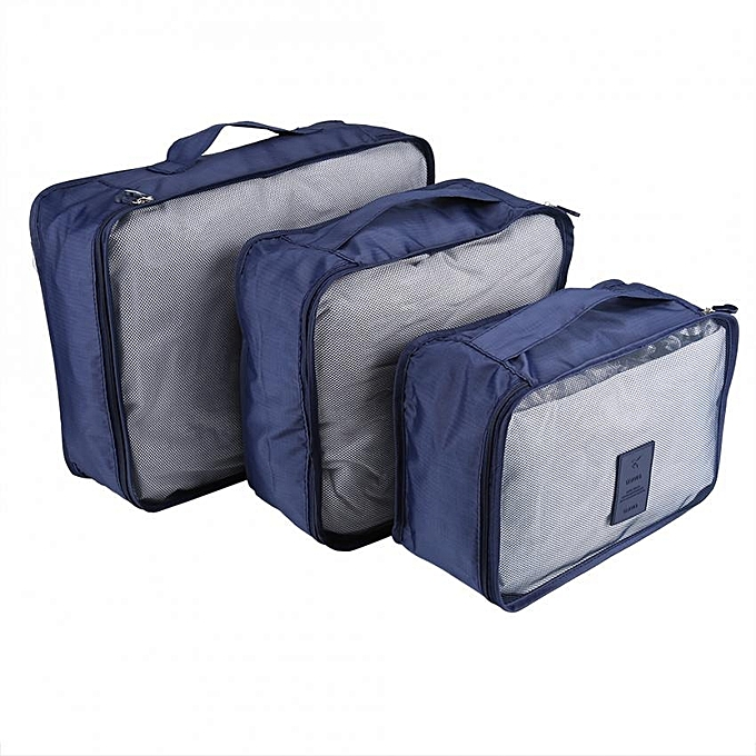 FADIXI 6Pcs Waterproof Travel Clothes Storage Bags Luggage Organizer Pouch  Packing ... aa57ae8dae7d5