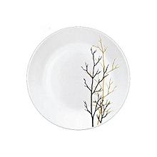 Golden Fall Glass Dinner Plates, Set of 6 .