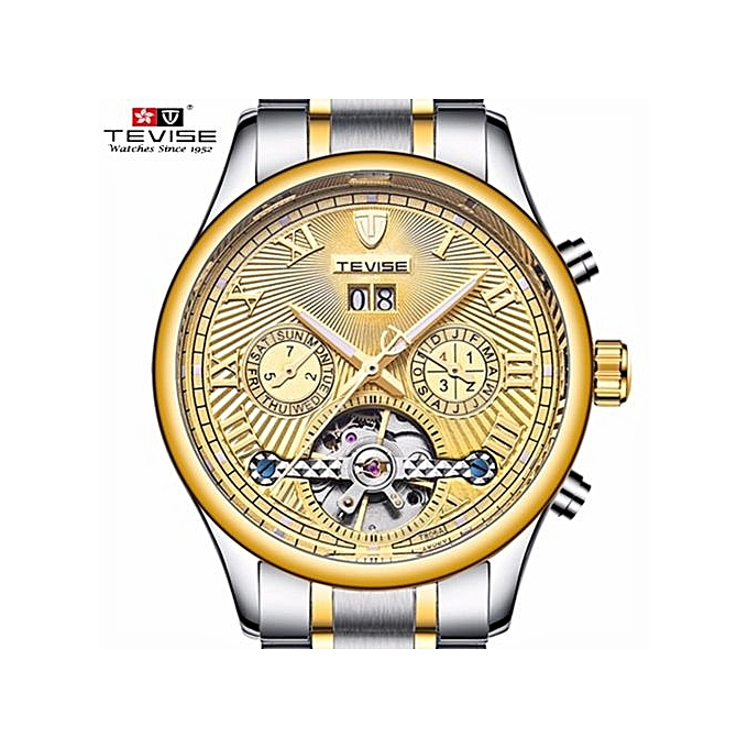 61ff85319a3 Relogio Automatico Masculino TEVISE New Men Mechanical Watches Fashion  Business Casual Tourbillon Skeleton Male T806a
