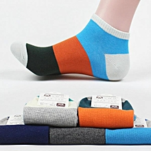 Mens Summer Cotton Breathable Splicing Color Socks