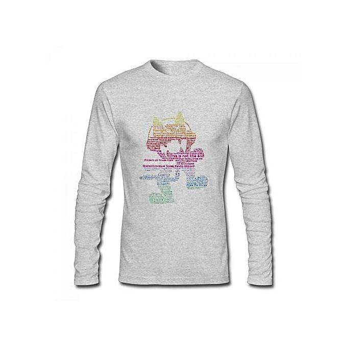 Monstercat Music Band Men's Cotton Long Sleeve T-shirt Grey