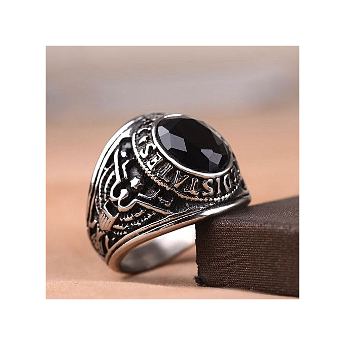 5cfa515a0f Luxury Men''s US Military Rings Stainless Steel Rhinestones Army Navy Ring