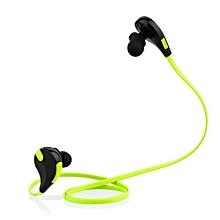 Wireless Bluetooth Sport headphone, QY7 Bluetooth 4.1 Wireless Sports In-ear Stereo Headphone with Sweatproof Earbuds (Green)