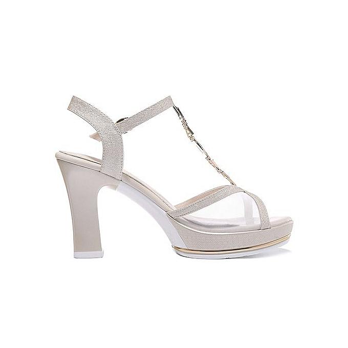 2852b6376e8 ... Fashion Women Platform Sandals Metal T Strap Crystal Flowers Pink White  Wedge Sandals Wedding Shoes 0108 ...