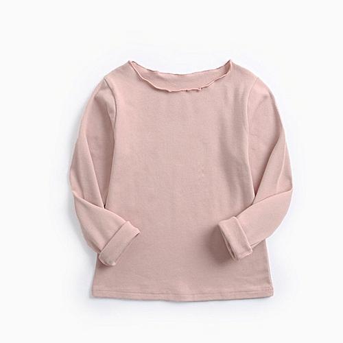 212ac022e Allwin Children Clothes Kids Girls T-shirt Tops Fleece Solid Long Sleeve  Tops Pink 110 @ Best Price   Jumia Kenya