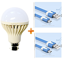 LED Intelligent  Emergency Bulb,Rechargeable bulb - 5W,Get Two Free Android Cables