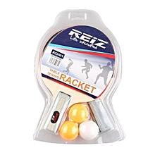 UJ TableTennis Racket Set With 3 Balls Ping Pong Paddle