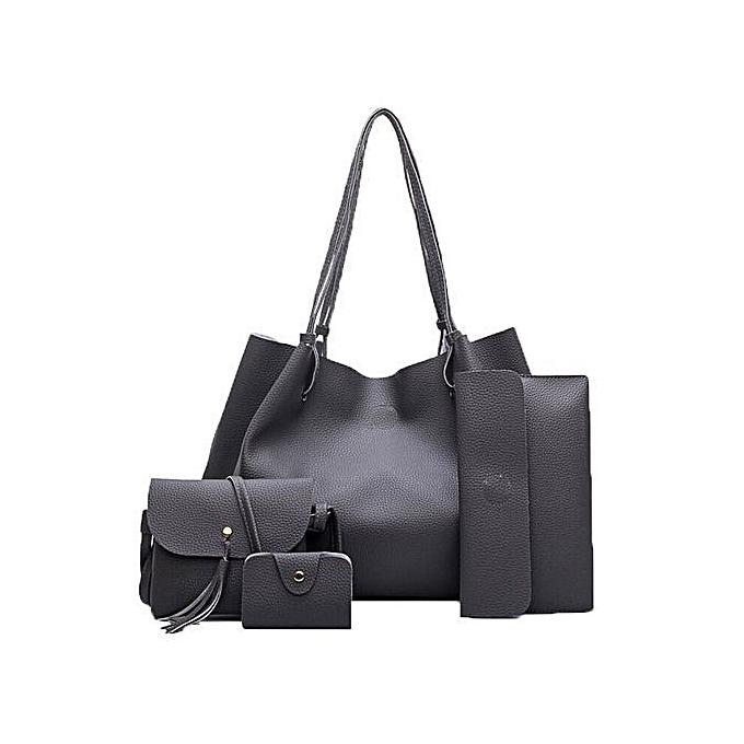 bluerdream-Women Handbag Fashion Four Sets Bag Women Leather Handbags  Messenger Bag DG-Dark bf55cc9df9edf