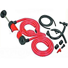 Siphon Pump, Tube Fuel, Oil Diesel, Petrol Liquid Fluid, Hand Transfer Kit