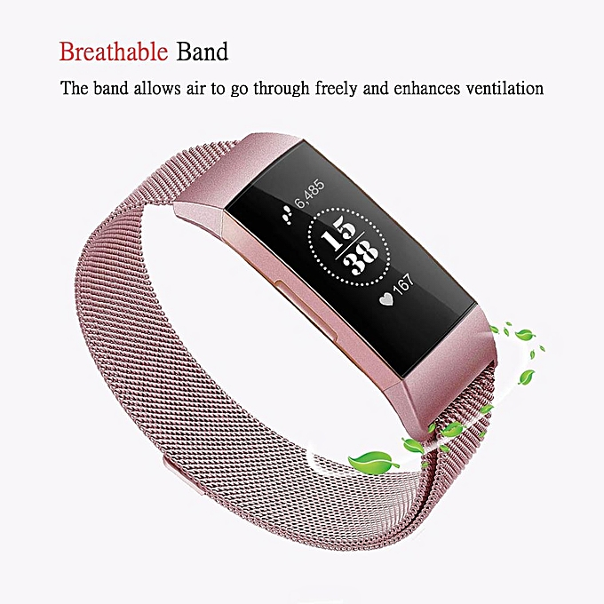 f0e74e1cdb02 Metal Replacement Bands Compatible for Fitbit Charge 3 and Charge 3 SE  Fitness Activity Tracker