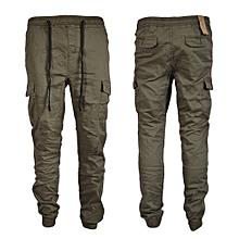 Grey Men's Cargo Pant-Stylish Pocketed