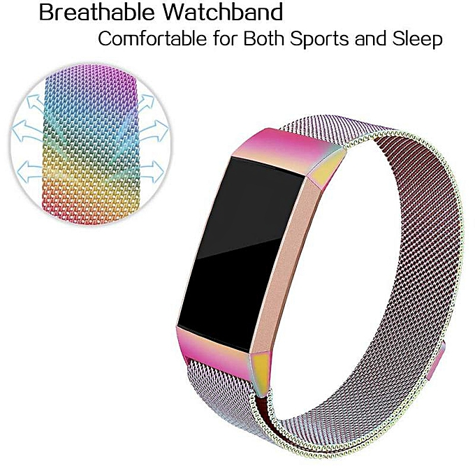 Magnetic Milanese Stainless Steel Bracelet Replacement Bands For Fitbit  charge3 straps Wrist Strap For Fitbit charge 3 Fitness FCJMALL
