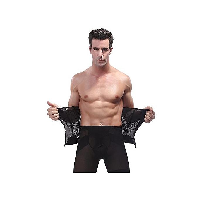 bb4858eb6d ... Men Hot Body Shaper Slim Waist Tummy Girdle Belt Waist Cincher Corset  Firm Waist Trainer Slimming ...