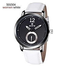 Mechanical Quartz Dual Movt Watch Luxury Silver Case Leather Strap Automatic Mechanical Watch Men Relogio Masculin