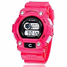 Sports Electronic Young People's Favorite Digital Watch Swimming Water-proof(Pink)