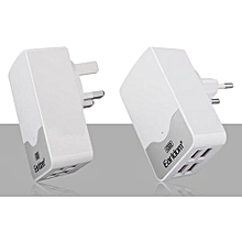 Earldom 5V 4.4A 3 USB Smart Charger Desktop Wall Power Cargador Adapter For IPhone IPad Tablets Samsung Galaxy Android(Silver)