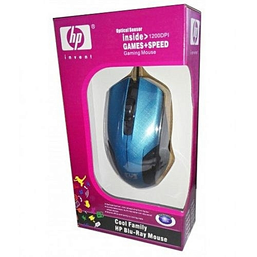 b7d194d76e8 HP 1200DPI - Blu-Ray USB wired Optical Gaming mouse for PC/Laptop - Blue