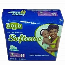Gold Baby Diapers for Babies 9-15Kgs, Count 40 Large