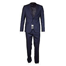 Blue 2 Piece Official/ Casual Men's Suit- Coat+Trouser