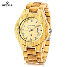 ZS - W129A Male Wooden Quartz Watch Date Luminous Display Japan Movt Wristwatch-VERAWOOD