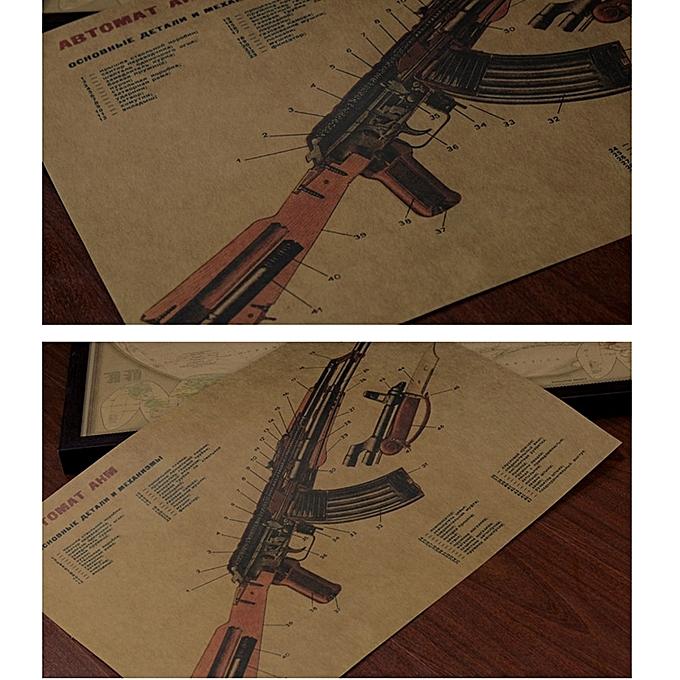 Buy Generic Art Gun Poster Pour Bar Pub Decoration Murale