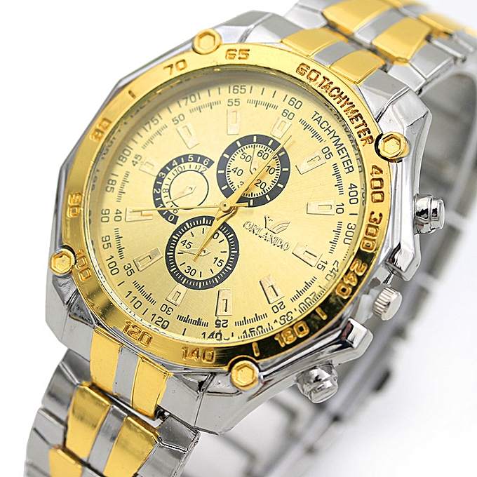 Ao Lun several gold man watch vogue male style of stainless