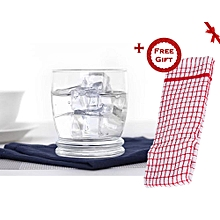 Cortina Glass Tumbler - Set of 6 (+ Free Gift Hand Towel).