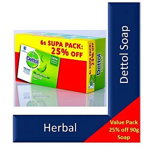 Dettol Soap Herbal 6's