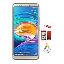 "Camon X - 6.0"", 16GB + 3GB RAM , (Dual SIM), 16 MP Back Camera + 20 MP Front Camera, Face ID Recognition, Android : 8.1 - Champagne Gold + FREE 360° PROTECTIVE CASE  + Free Glass Protector"