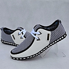 2016 New Men's Smart Casual fashion shoes breathable sneakers running shoes white