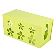 【clearance Sale+ready Stock】Wire Cable Management Tidy Organiser Storage Box (Green S)