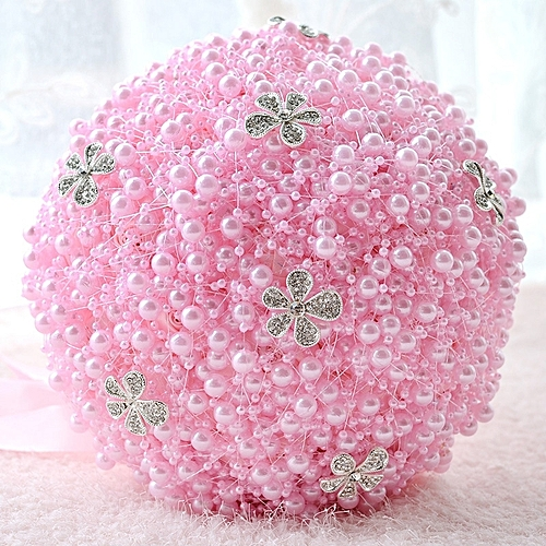 Generic Wedding Holding Pearl Flowers Bridal Bouquet Accessories
