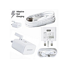 Samsung smart phone travel charger + Micro USB Cable White.