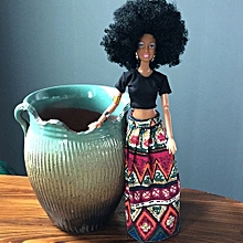 Henoesty Baby Movable Joint African Doll Toy Black Doll Best Gift Toy