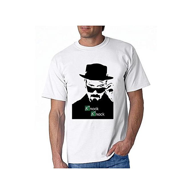 8c74c5aa8 Fashion Breaking Bad Knock Knock Design Men's Short Sleeve T Shirt Round  Neck Character Punk Funny