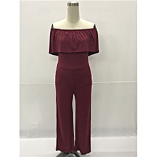 High Fashion Women Ladies Clubwear Summer Playsuit Bodycon Party Jumpsuit Romper Trousers-red