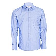 Blue Long Sleeved Men's Official Shirt