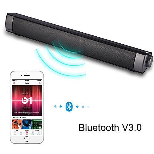 Home Theater TV Soundbar Bluetooth Sound Bar Speaker - Black