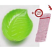 Green Leaf Plate (+ Free Gift Hand Towel).