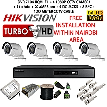 1080P   -  Full HD Digital CCTV Security Cameras - 4 Channel kit- 1 TB HDD - free installation nairobi ONLY
