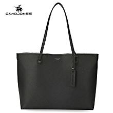 Fashion 2 Pieces Women Handbag Set Large Capacity Tote Bags Female PU Totes-BLACK