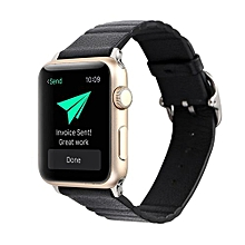 Generic Leather Watch Strap Bracelet Wrist Band For Apple Watch 1/2 38MM