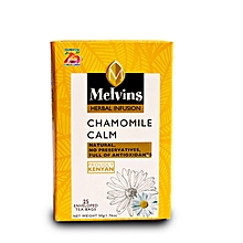 Melvins Chamomile enveloped and tagged tea bags 50g