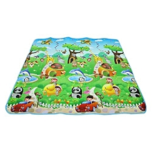 200 X 180cm Double-sided Soft Foam Play Crawling Mat Baby Kids Toddler Blanket - Colormix