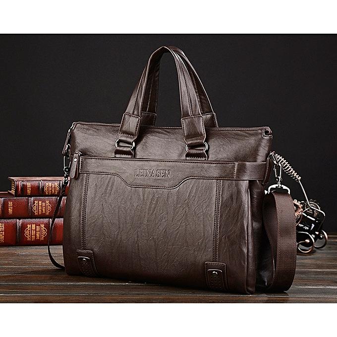 ... Men Handbags Fashion Business Men Briefcase Bag pu Leather Laptop Bag  Casual Zipper Design Man handbag ... 07fb87c2bd665