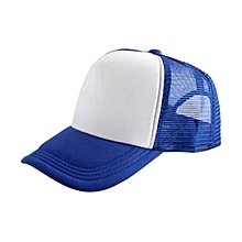 New Arrival Adjustable Child Solid Casual Hats For New Classic Trucker Summer Kids Baseball Golf Mesh Cap Sun Hats(Blue)